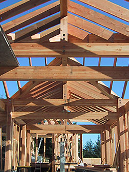 Mittendorf Quality Construction, framing a house