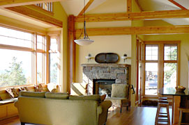 Mittendorf Quality Construction - San Juan island - fireplace